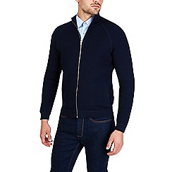 Burton - Navy textured knitted jacket