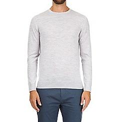 Burton - Silver merino wool crew neck jumper