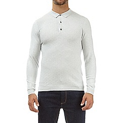 Burton - Light grey knitted polo shirt