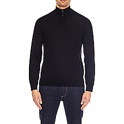 Burton - Black merino zip jumper