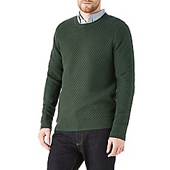 Burton - Khaki honeycomb stitch jumper