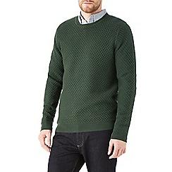 Burton - Khaki honeycomb stitch jumper