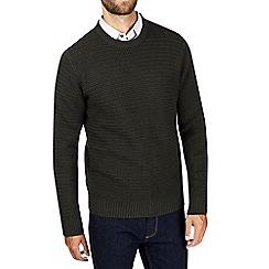 Burton - Khaki mid gauge textured jumper