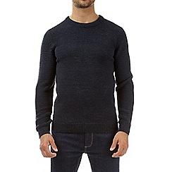 Burton - Navy blue crew neck jumper