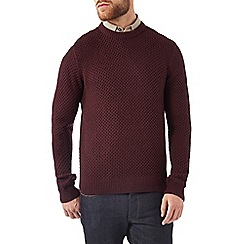 Burton - Burgundy honeycomb stitch jumper