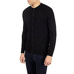 Burton - Black button through knitted polo shirt