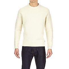 Burton - Ecru textured knitted jumper