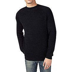 Burton - Black fisherman knitted jumper
