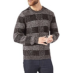 Burton - Grey check stitch jumper