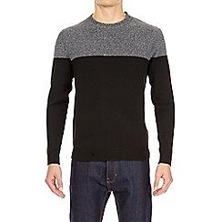 Burton - Black and charcoal soft textured jumper
