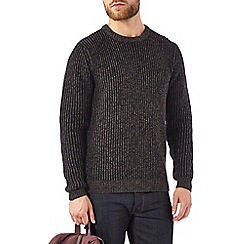Burton - Dark grey chunky twist jumper