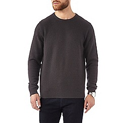 Burton - Black pure lambswool jumper