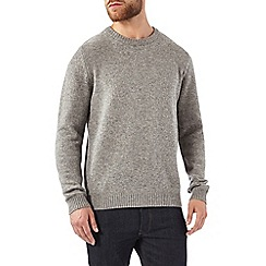 Burton - Grey pure lambswool jumper