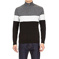 Burton - Grey and black zip jumper