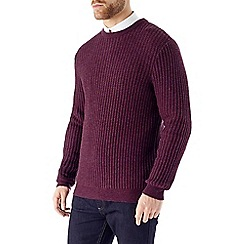 Burton - Purple textured stitch jumper