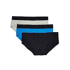 Burton - 3 pack black blue and grey briefs