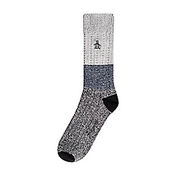 Burton - Original penguin single ribbed monochrome socks