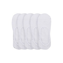 Burton - 5 pack white invisible socks