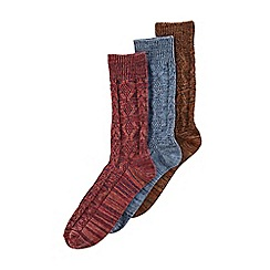 Burton - 3 pack cable twist socks