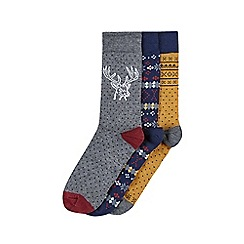Burton - Novelty pack of 3 gift box set socks