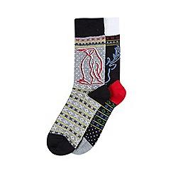 Burton - Novelty pack of 2 modern fairisle socks