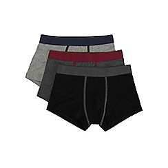Burton - 3 pack grey waistband hipsters