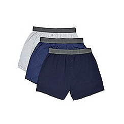 Burton - 3 pack navy, geo & grey boxers