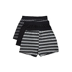 Burton - 3 pack charcoal black and grey boxers