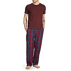 Burton - Red & navy checked pyjama set