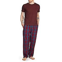 Burton - Red & navy checked pyjama set