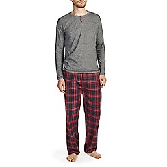 Burton - Red & black check brushed cotton pyjama set