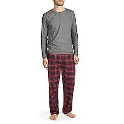 Burton - Red & black check brushed cotton pyjama set