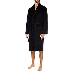 Burton - Super soft fleece black dressing gown