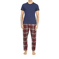 Burton - Navy and red checked pyjama set