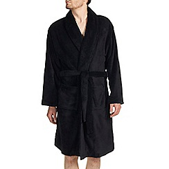 Burton - Black fleece dressing gown