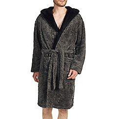 Burton - Luxurious grey fleece dressing gown
