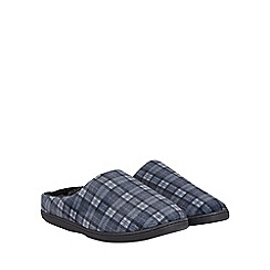 Burton - Grey check soft touch mule slippers