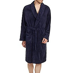 Burton - Navy fleece dressing gown
