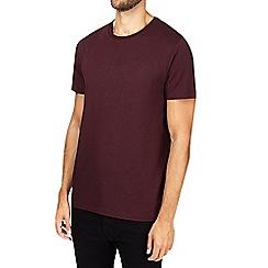 Burton - Montague burton burgundy premium modal crew neck t-shirt
