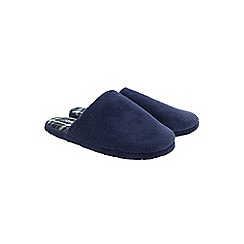 Burton - Navy microterry mule