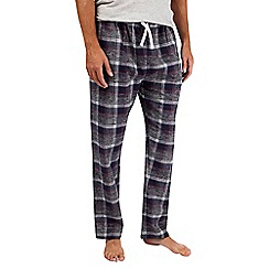 Burton - Grey pure cotton checked pyjama bottoms