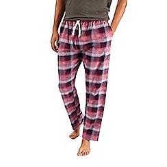 Burton - Red pure cotton checked pyjama bottoms