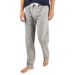 Burton - Grey textured cotton jersey lounge joggers