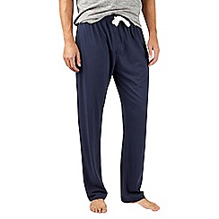 Burton - Navy cotton and modal blend lounge joggers