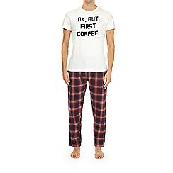 Burton - Ok But First Coffee' slogan pyjama set