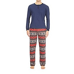 Burton - Multi coloured fairisle novelty lounge bottoms