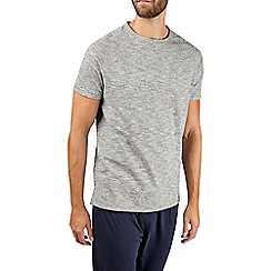 Burton - Grey textured cotton jersey loungewear t-shirt