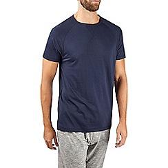 Burton - Navy cotton and modal blend loungewear t-shirt