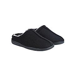 Burton - Black textured mule slippers