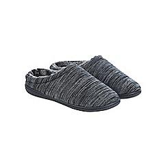 Burton - Grey patterned mule slippers